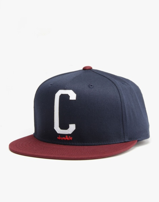 Chocolate League C Snapback Cap - Navy