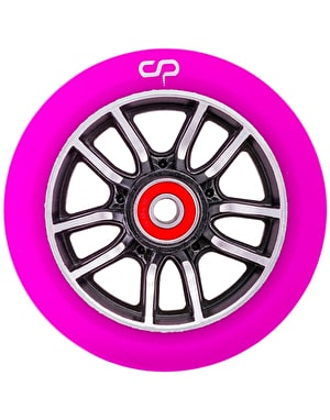 Crisp F1 Forged Scooter Wheel - 110mm - Black Silver/Purple