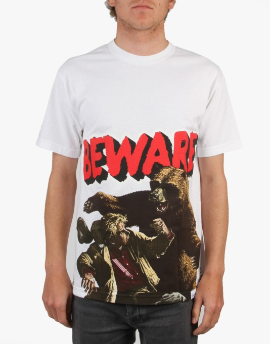 Grizzly Beware Of The Bear T-Shirt - White