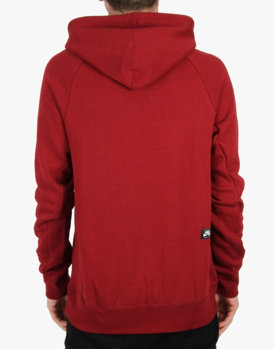 Nike SB Icon Pullover Hoodie - Team Red (White)