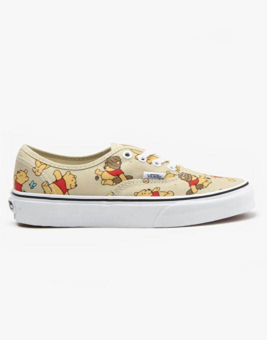 Vans x Disney Authentic Skate Shoes - Winnie The Pooh/Light Khaki