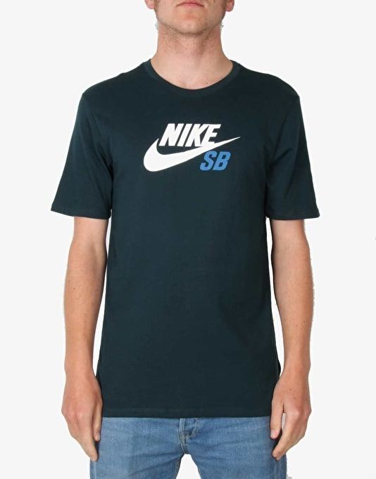 Nike SB Dri-FIT Icon Logo T-Shirt - Midnight Teal/White/Brigade Blue