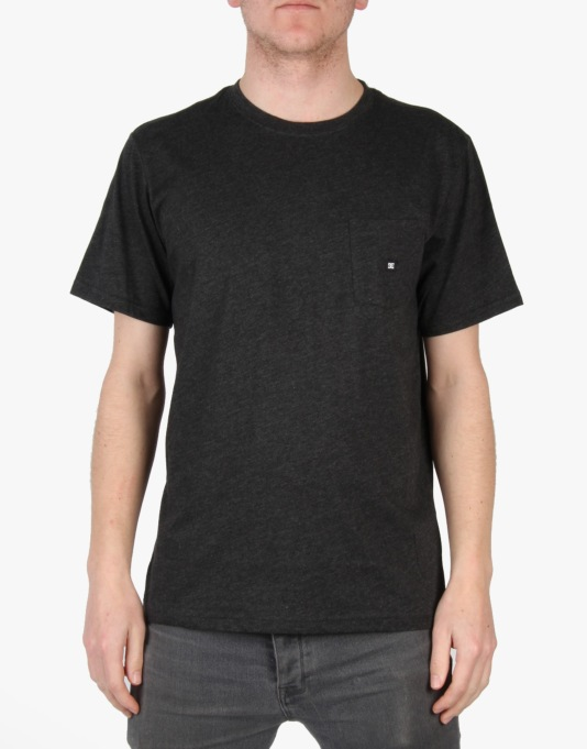 DC Basic Pocket T-Shirt - Black Heather