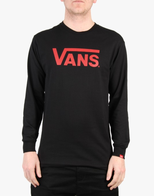 Vans Classic L/S T-Shirt - Black/Reinvent Red