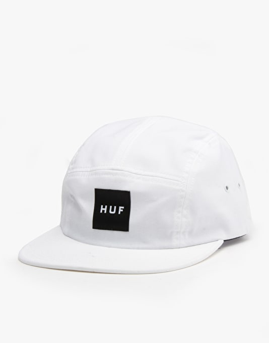HUF Box Logo Volley 5 Panel Cap - White