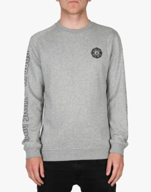 Volcom Tune Out Sweatshirt - Heather Grey
