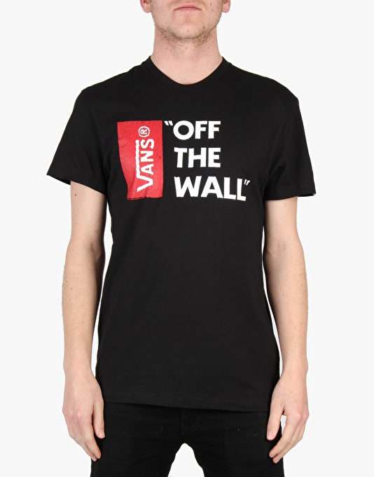 Vans Off The Wall T-Shirt - Black