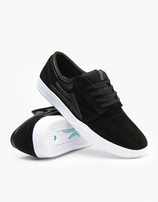 Lakai x Isle Griffin XLK Skate Shoes - Black/White Suede
