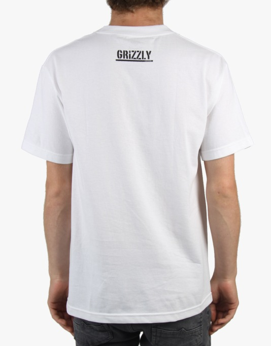 Grizzly Neon Stamp T-Shirt - White