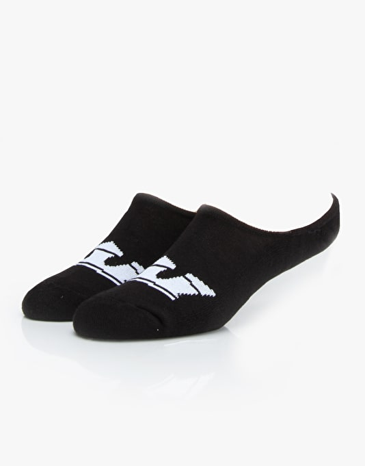Supra No Show Socks 6 Pack - Black