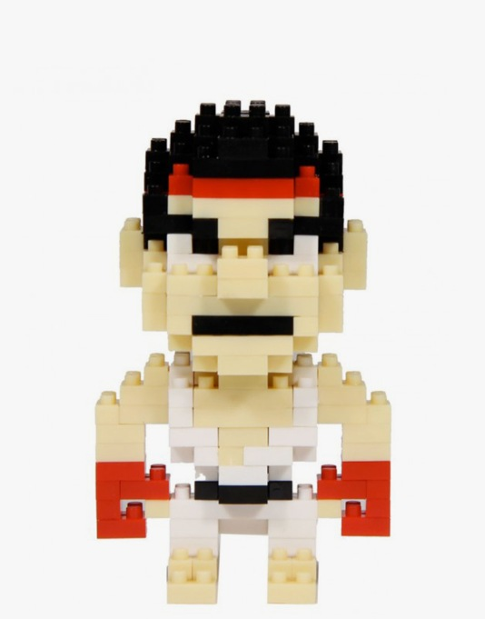 Street Fighter Pixel Bricks - Ryu