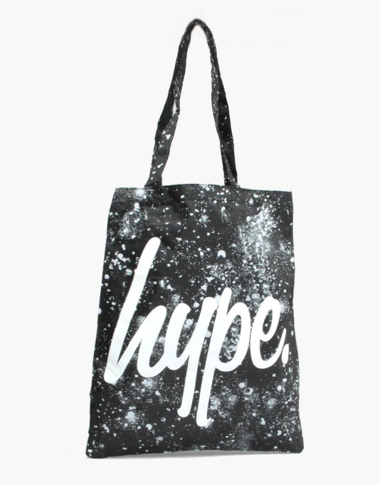 Hype Splat Tote Bag - Black