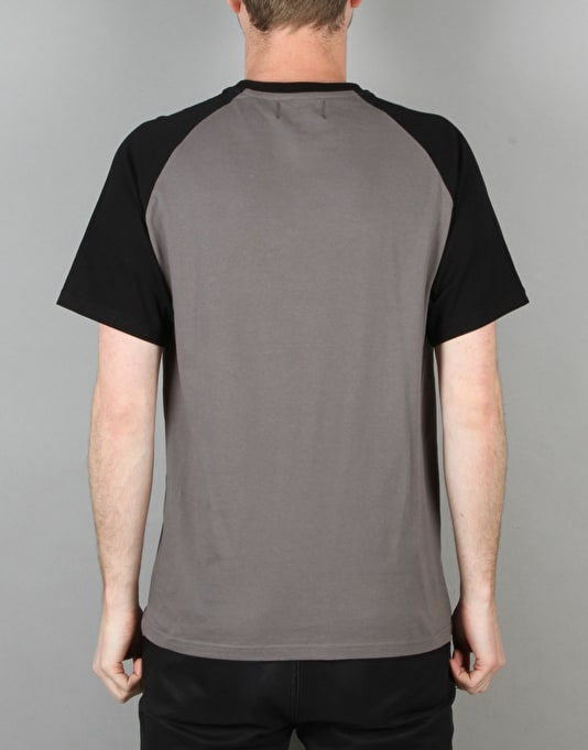 Route One Raglan T-Shirt - Slate Grey/Black