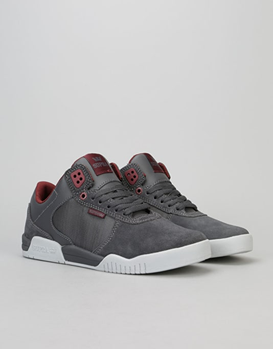 Supra Ellington Strap Skate Shoes - Burgundy/Gum