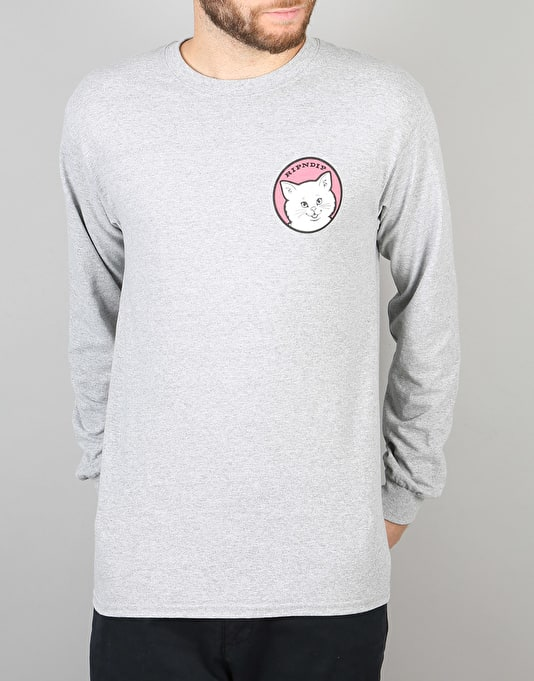 RIPNDIP Stop Being A Pussy L/S T-Shirt - Heather Grey