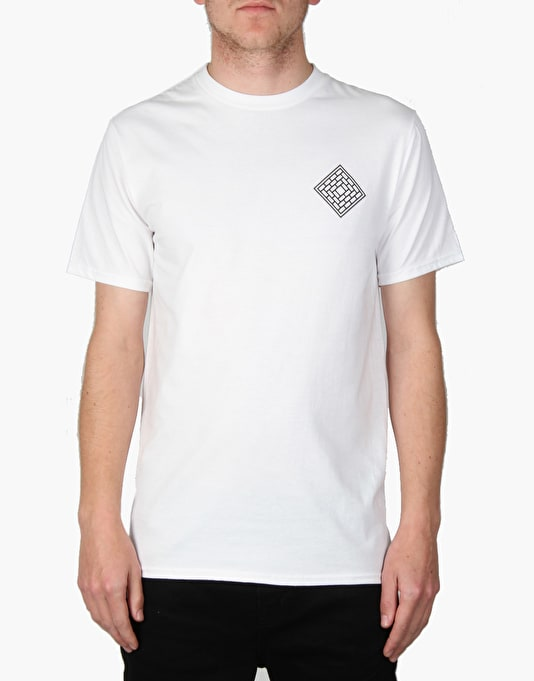 The National Skateboard Co. Fade Palm T-Shirt - White