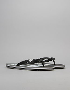 DC Spray Graffik Flip Flops - Grey/Black/Grey