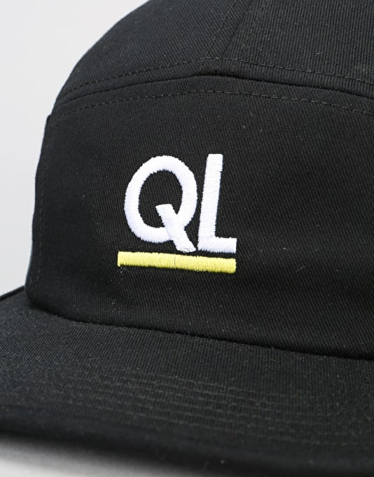 The Quiet Life Periodic 7 Panel Cap - Black