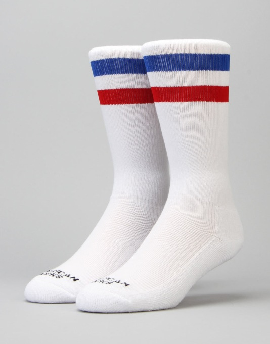 American Socks American Pride Mid High Socks - White/Red/Blue