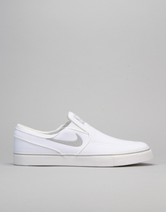 Nike SB Air Zoom Stefan Janoski Slip Canvas - White/Wolf Grey-White