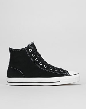 Converse CTAS Pro Hi Skate Shoes - Black/Black/White