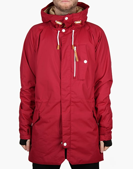 Colour Wear Strike Parka 2016 Snowboard Jacket - Burgundy