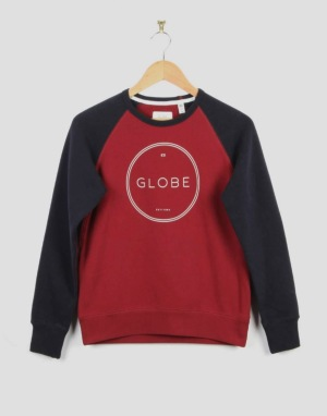 Globe Windsor Boys Crew Sweatshirt - Cardinal