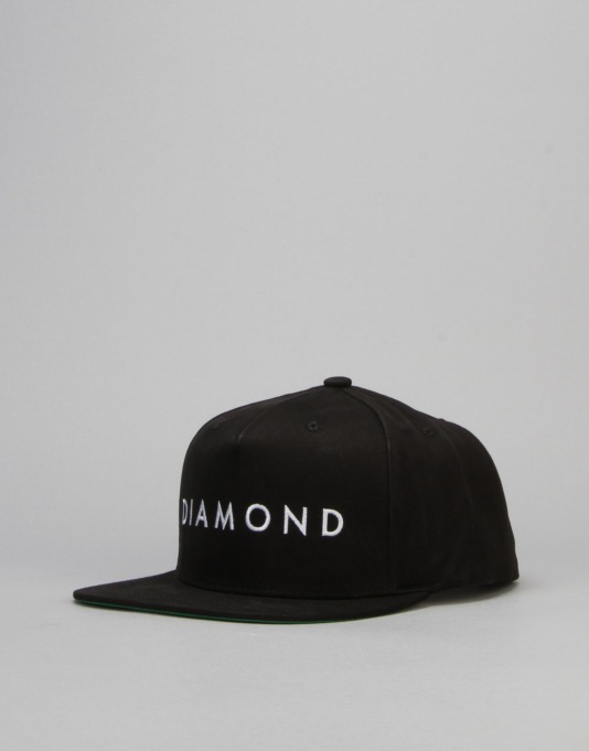 Diamond Supply Co. Facet Snapback Cap - Black