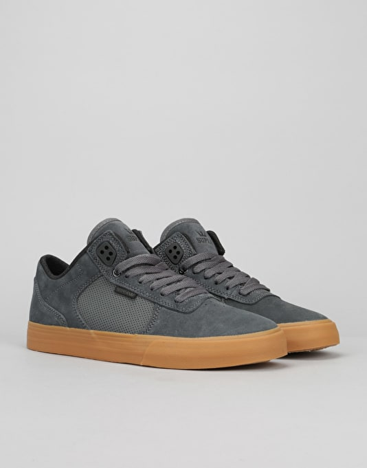 Supra Ellington Vulc Skate Shoes - Charcoal/Gum