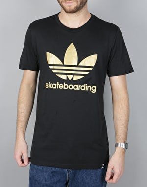 Adidas Climacool 3.0 Solid T-Shirt - Black/Gold Met