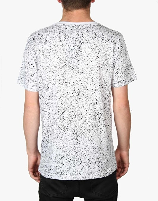 Nicce Speckle Badge T-Shirt - White
