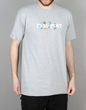 Pass Port Rosa Offical Puff T-Shirt - Heather Grey