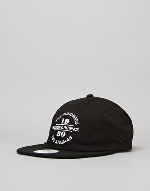 The Hundreds x New Era Patience 29TWENTY Strapback Cap - Black