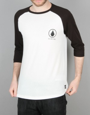 Volcom Move On 3/4 Raglan T-Shirt - White