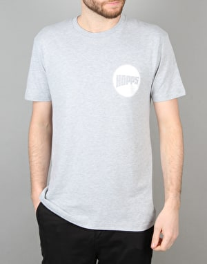 Hopps Sun T-Shirt - Heather Grey/White