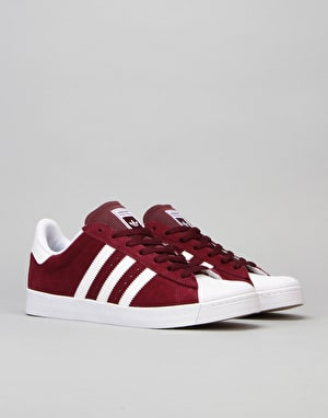 Adidas Superstar Vulc ADV Skate Shoes - Maroon/White/White