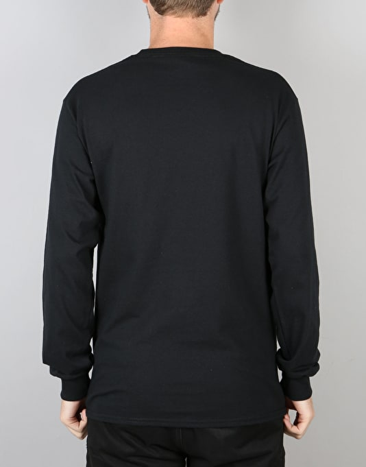 The Quiet Life Satin Cloud L/S T-Shirt - Black