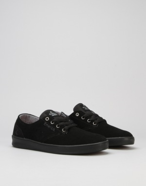 Emerica The Romero Laced Skate Shoes - Black/Black/Black