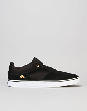 Emerica The Hsu Low Vulc Skate Shoe - Black/White