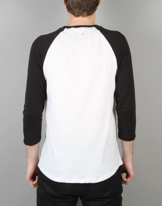 Emerica Stimulous Raglan T-Shirt - Black/White