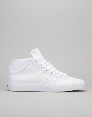 Adidas Matchcourt Mid Skate Shoes - FTWR White/FTWR White/FTWR White