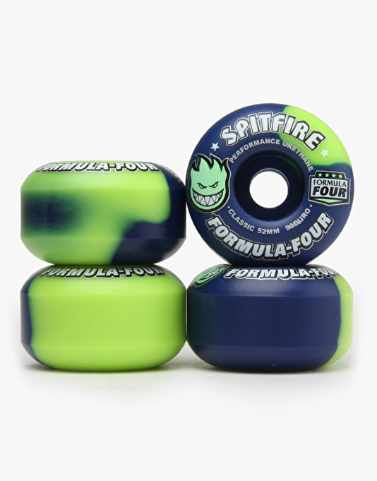 Spitfire Neuro Neon Lime Swirl Formula Four 99d Team Wheel - 52mm