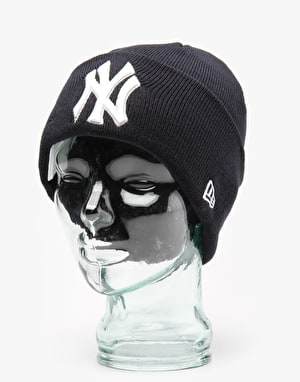New Era MLB New York Yankees Lic Over Cuff Beanie - Blue