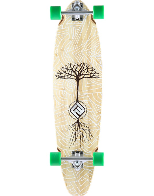 "Flying Wheels Earthtree Bamboo Longboard - 37"" x 9.5"""