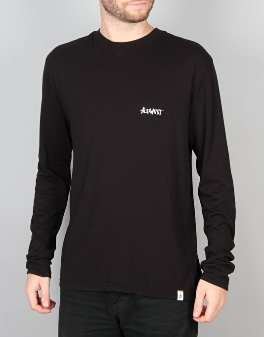 Altamont One Liner Embroidery L/S T-Shirt - Black