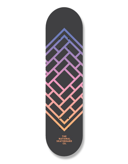 The National Skateboard Co. Fade Team Deck - 7.75""