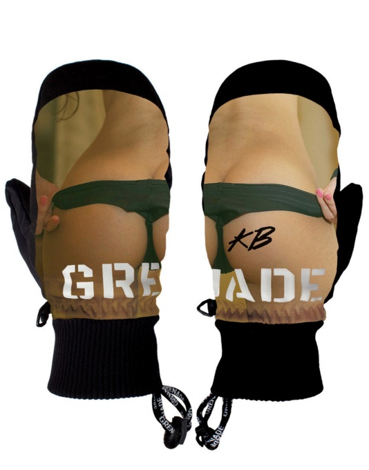 Grenade Backstrom Pro Model 2016 Snowboard Mitts - Multi