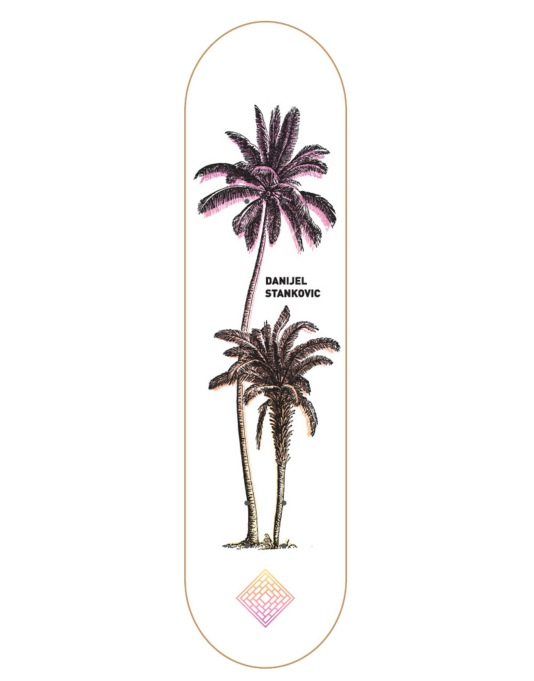 The National Skateboard Co. Stankovic Palms 3 Pro Deck - 8.125""