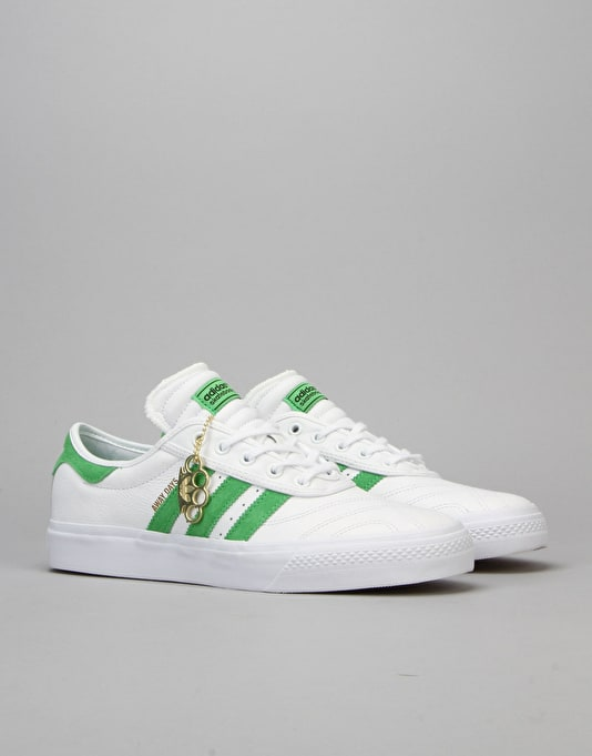 Adidas Adi-Ease Premiere Away Days Skate Shoes - White/Lime/Gum