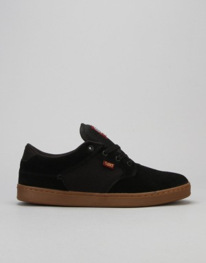 DVS Quentin Skate Shoes - Black/Port/Gum Suede x Getz